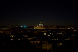 View over the Rome capital at night