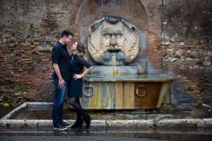 Gianicolo water fountain e-session
