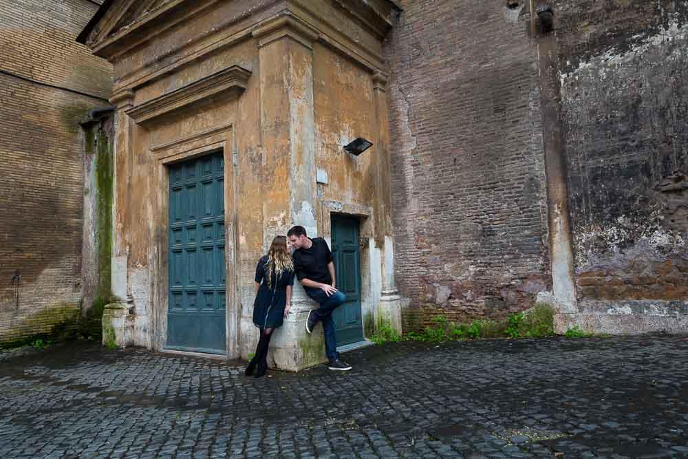 Trastevere photo shoot near and ancient church