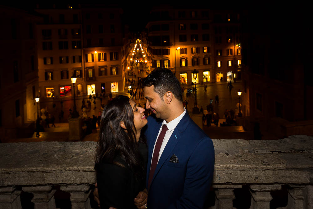 Engagement photos taken in Rome at Piazza di Spagna