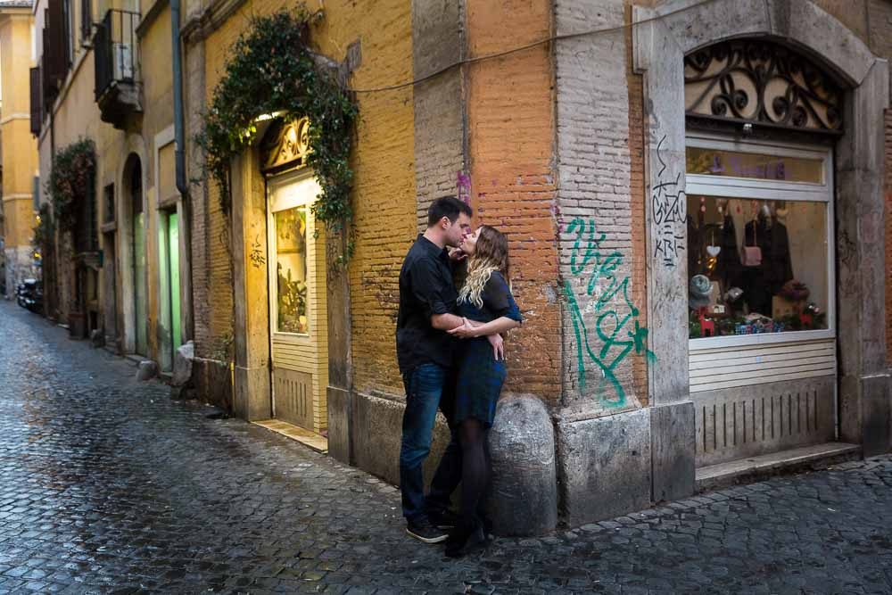 Romance in the roman off the beaten track alleyways of trastevere