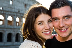 Engagement portrait photography by Andrea Matone photographer. Rome, Italy.