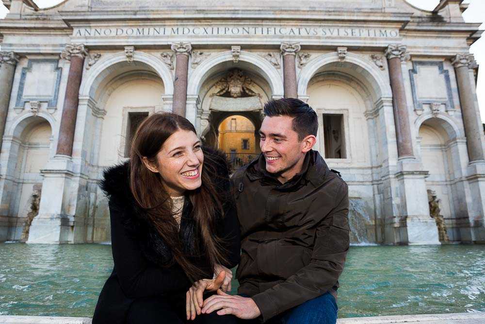 Happy and in love at the Gianiculum hill in Rome.