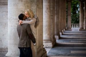 Photo session underneath the beautiful columns found in Piazza del Campidoglio