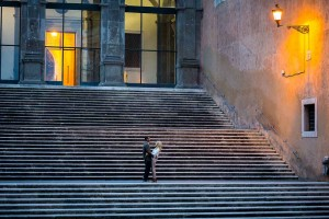 Campidoglio staircase used for an e-session