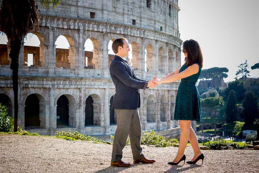 Together in Rome for an engagement session