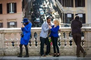 Engaged at Piazza di Spagna