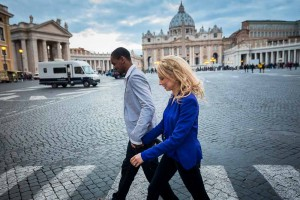 Walking on the streets just outside Vatican city