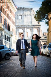Walking in the roman alleyways on an off the beaten track photography session