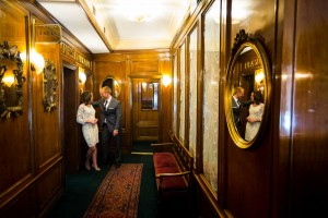 Hotel interior pre wedding photography session in the hall