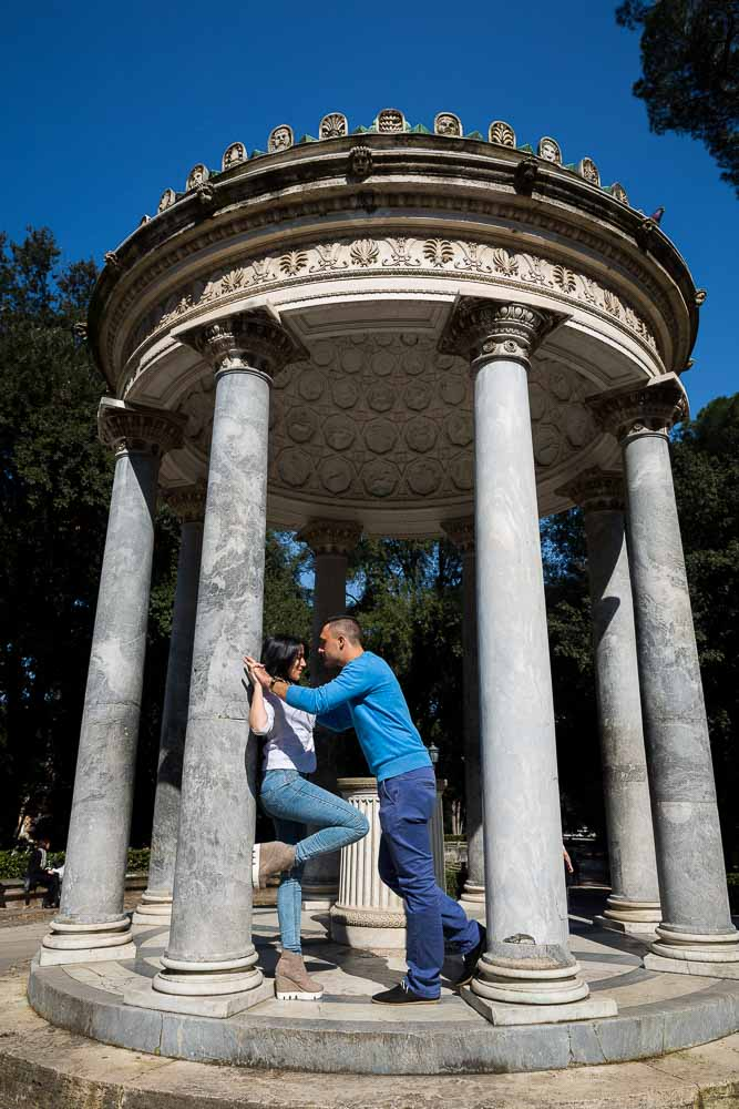 Pictures taken at the temple in the Villa Borghese park in Rome.