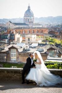 Parco del Pincio view over the roman rooftops