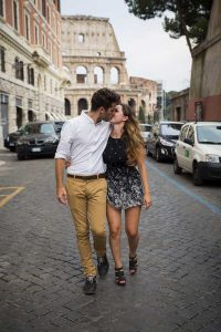 Rome Photographer Engagement session at the Roman Colosseum Italy