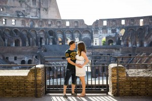 Engagement session inside the Colosseo