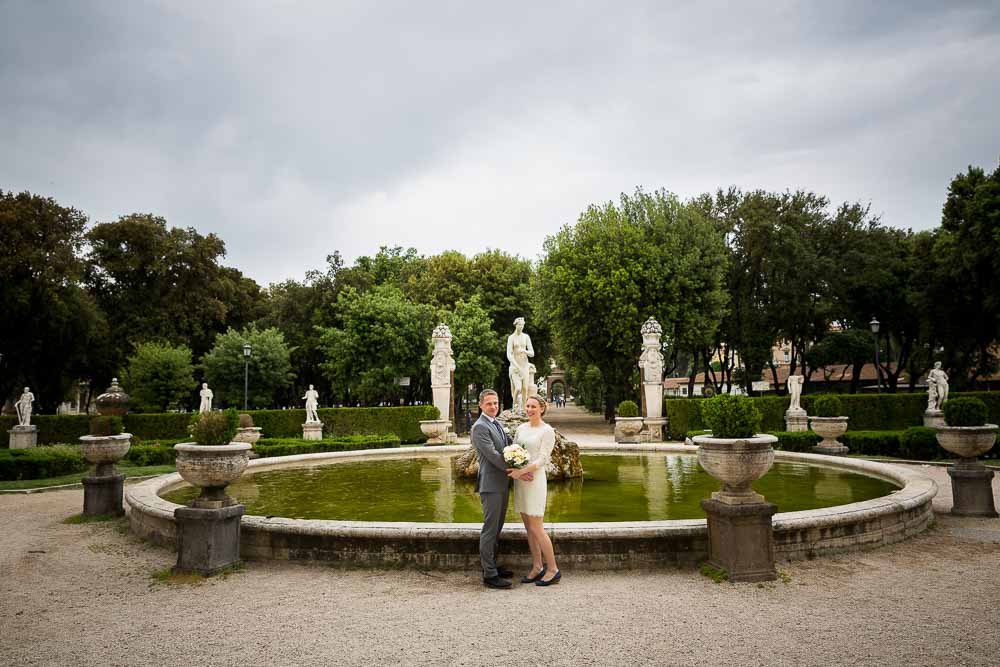 Giardino Villa Borghese venue location for wedding photography