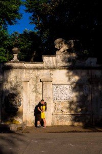 Engagement session in Park Borghese