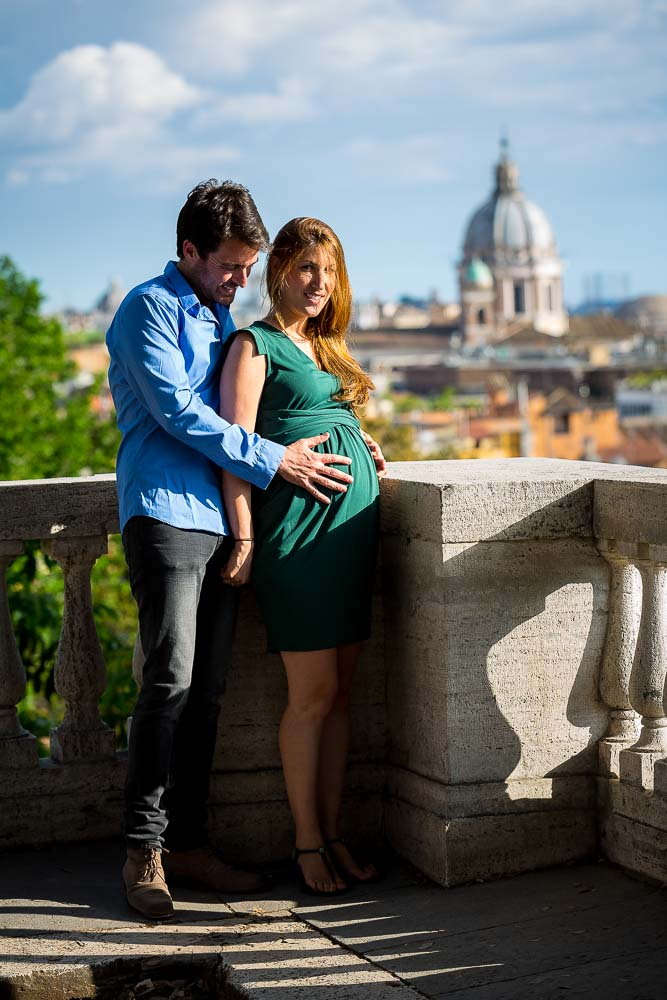 Prenatal photo session in Rome Italy