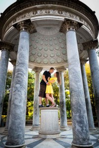 Temple of Diana Engagement session in Rome Italy