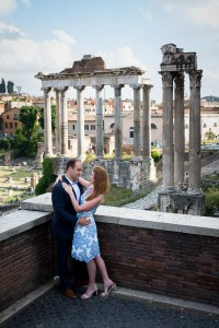 Engaged to be married at the ancient Forum