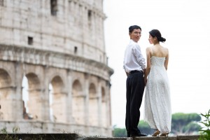 Coliseum photography session during a post wedding shoot