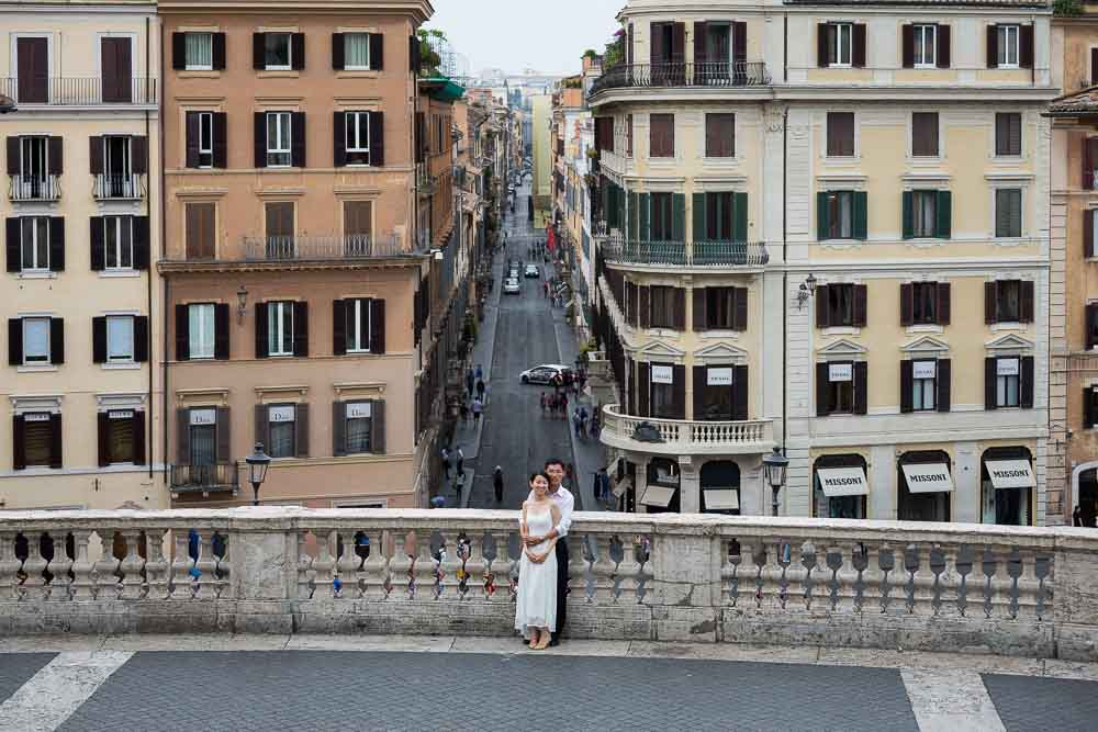 Piazza di Spagna early morning honeymoon photography