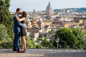 In love in Rome engagement style session