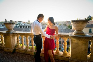 In love in Rome. Romantic love story session.