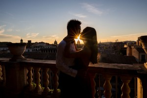 Sunset photography. In love in Rome.