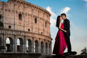 Couple engagement session at the Coliseum