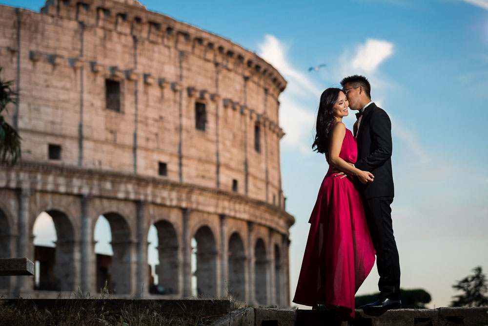 Couple engagement session at the Coliseum