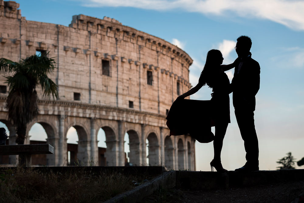 Silhouette photo e-session in Rome