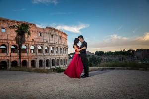 Wedding red photographer Rome.
