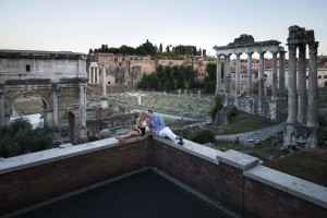 Hanging out overlooking the ancient roman city