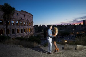 Night time photo session at the Roman Colosseum