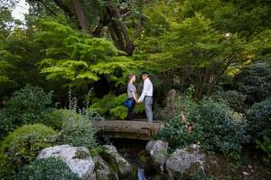 Botanic Garden engagement session in Rome Italy