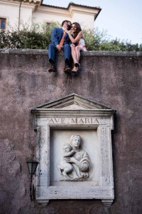 Creative angle imagery taken on top of a wall and marble sculpture