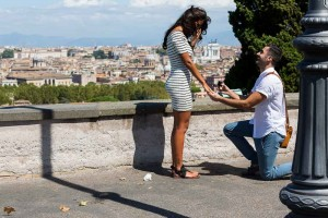 Will you marry me proposal in Rome