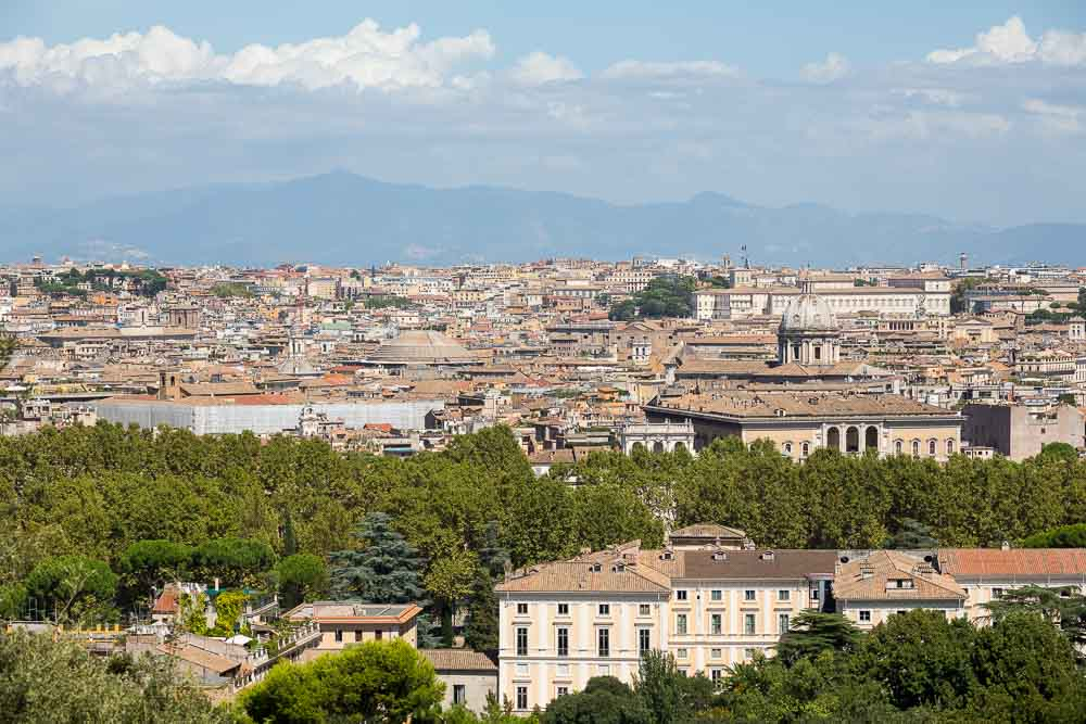 Roman rooftops in Rome