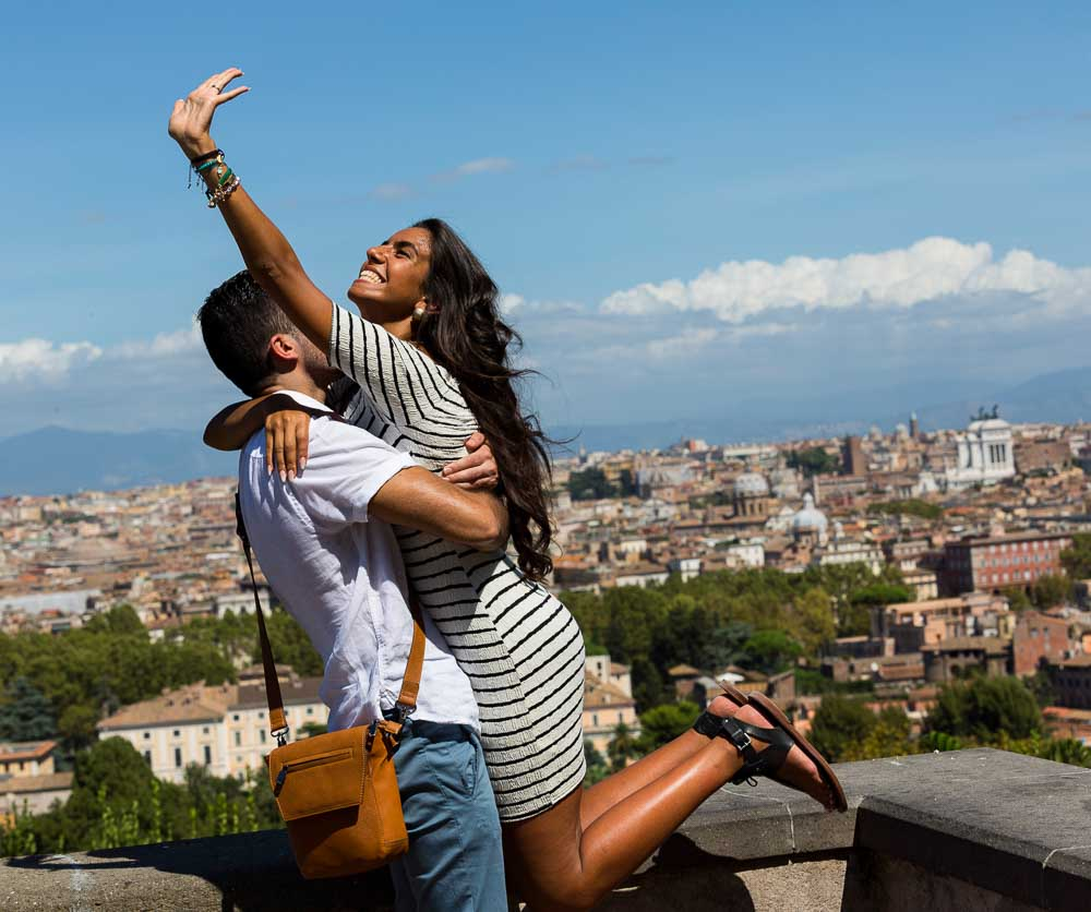 Engagement proposal photography session in Rome Italy