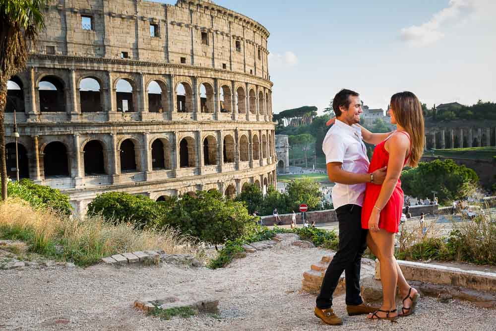 Couple at the Roman Coliseum