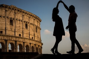 Dancing moves over the Roman Colosseum