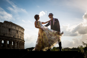 Pre Wedding Engagement photo session in Rome by the Roman Colosseum