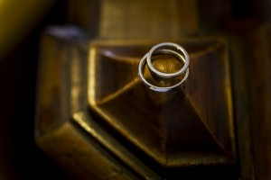 Wedding rings photographed up close