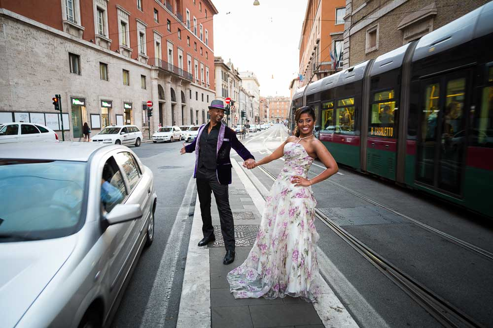 In the streets of Rome Pre Wedding Engagement