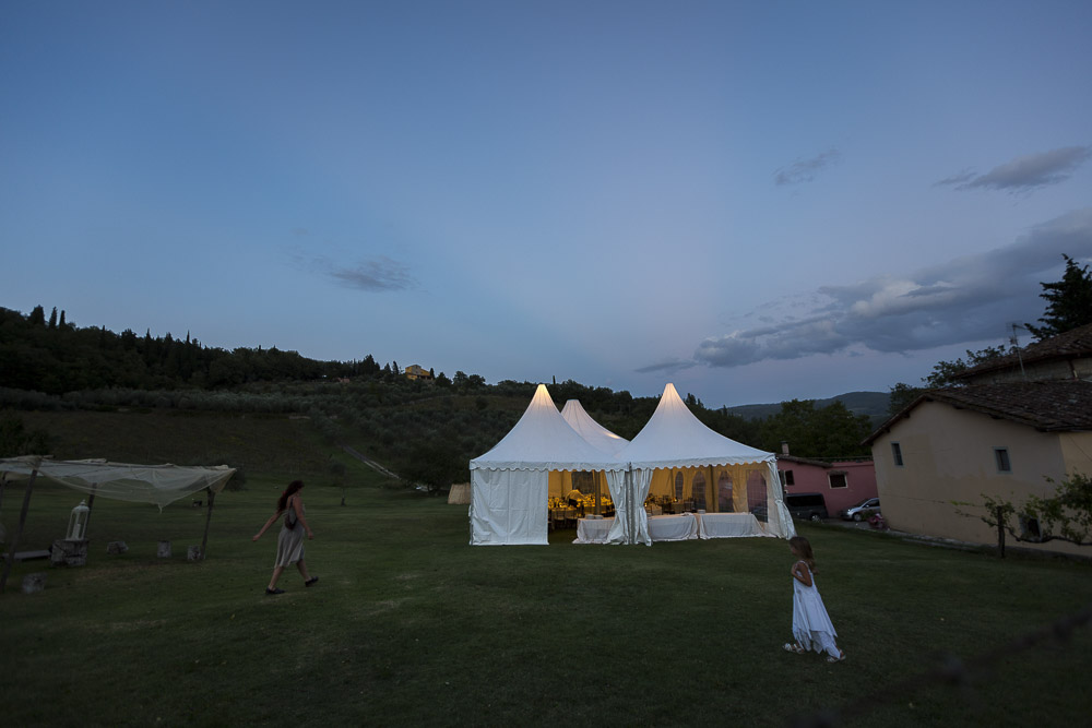 The wedding reception tents