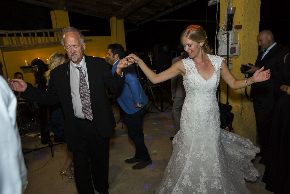 Dancing with her father