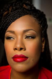 Portrait picture close up facial makeup