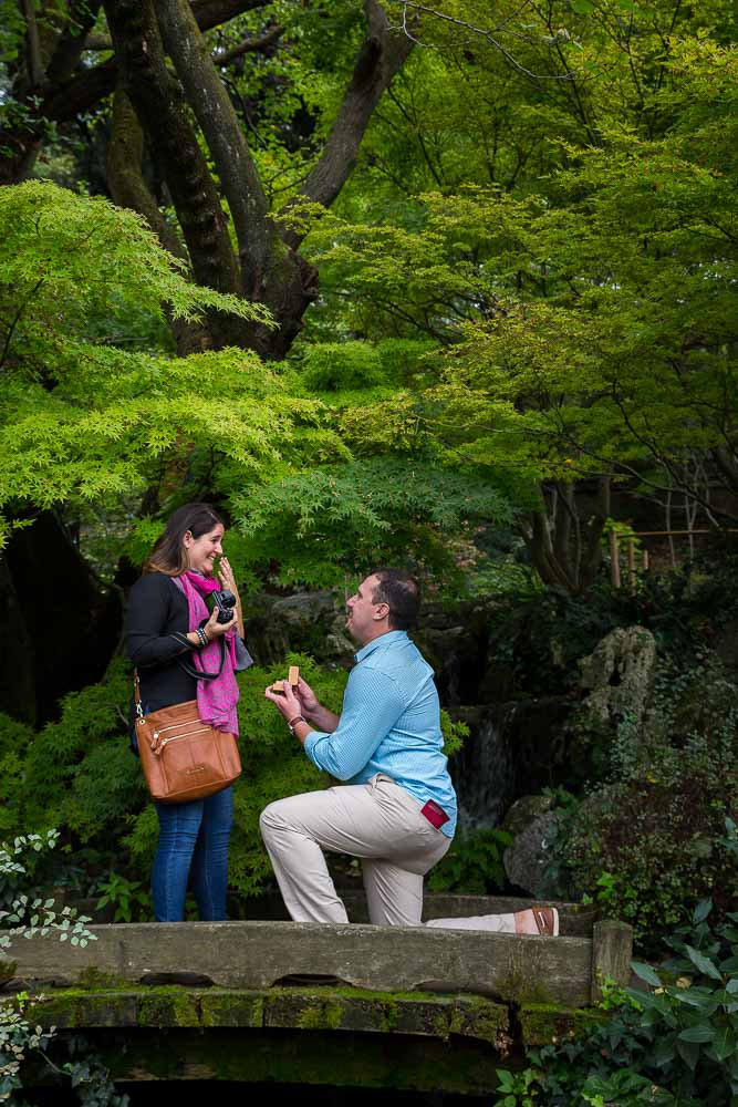 Giardino Orto Botanico wedding proposal in Rome