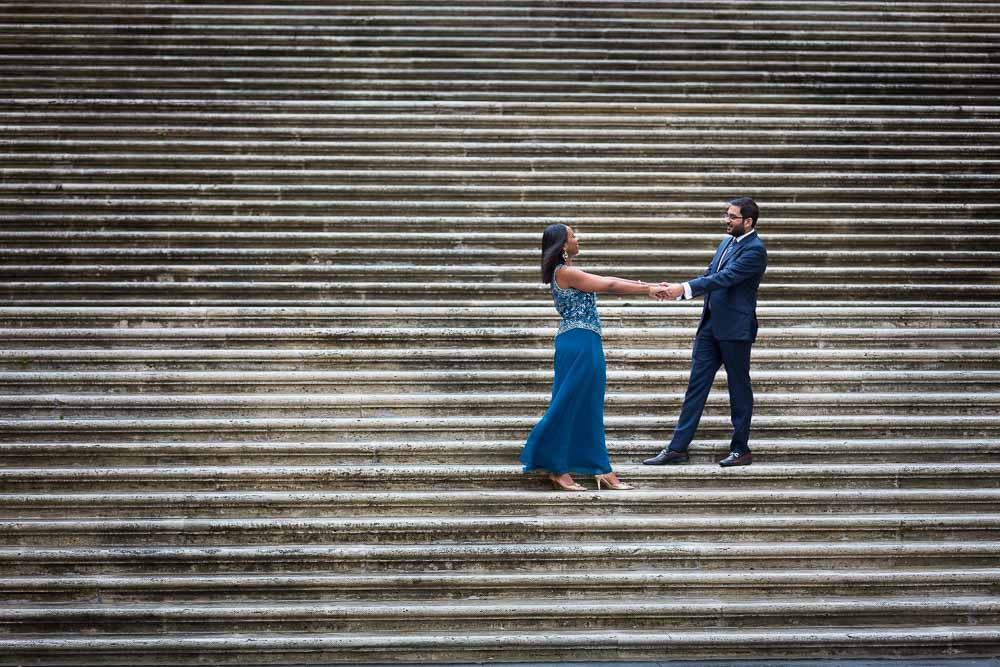 Photography portraits on the Campidoglio Piazza stairs