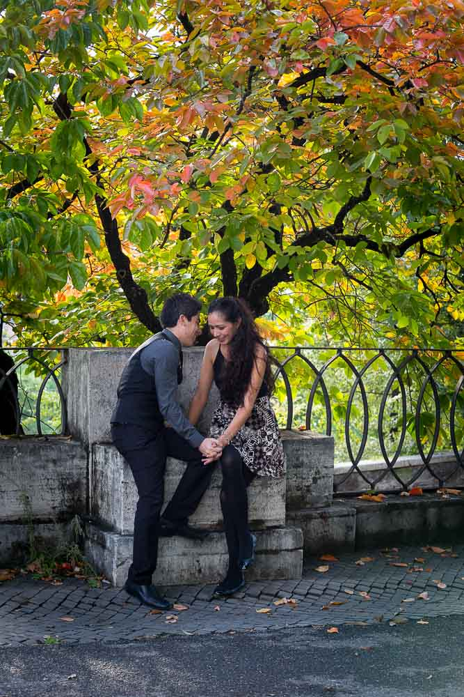 Autumn engagement photo session